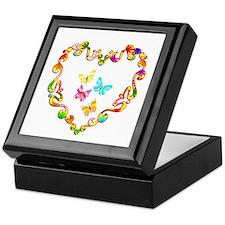 Fancy Heart Butterflies Keepsake Box