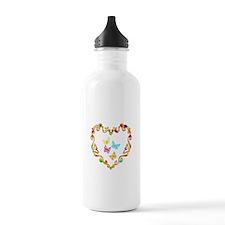 Fancy Heart Butterflie Water Bottle