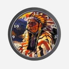 Indian Chief Wall Clock