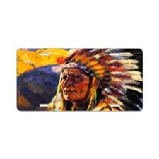Indian Chief Aluminum License Plate