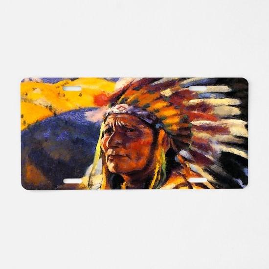 Indian Chief Aluminum License Plate