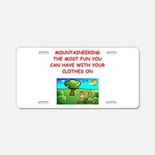MOUNTAIN Aluminum License Plate