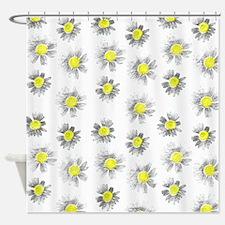 Flowering On White, Shower Curtain