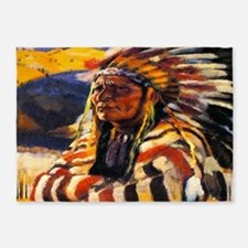 Indian Chief 5'x7'area Rug