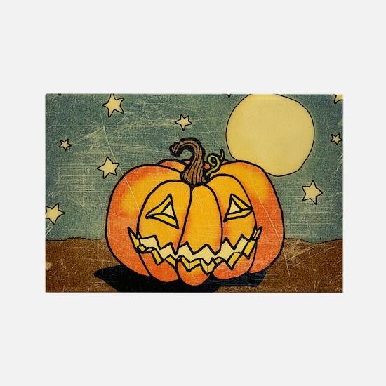 Cute Pumpkin Moon And Stars Magnets
