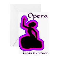 Opera story Diva Greeting Cards (Pk of 10)