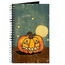 Cute Pumpkin Moon And Stars Journal