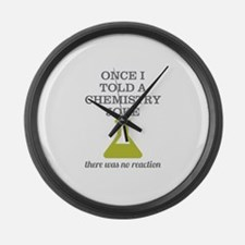Chemistry Joke Large Wall Clock