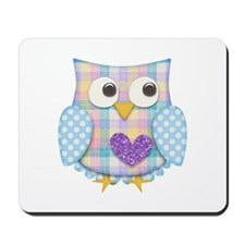 Purple heart owl Mousepad