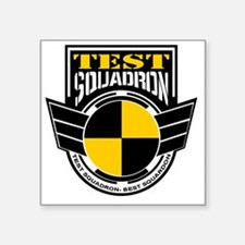 "TEST Squadron Square Sticker 3"" x 3"""