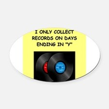 RECORDS5 Oval Car Magnet