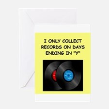RECORDS5 Greeting Cards