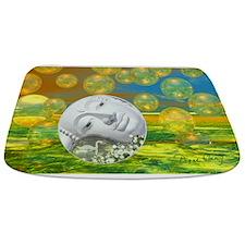 Peace, Abstract Golden Bathmat
