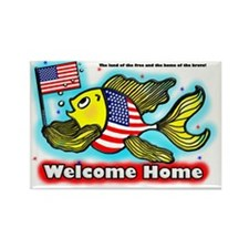 American Flag Fish US -wFlag- FAB Rectangle Magnet