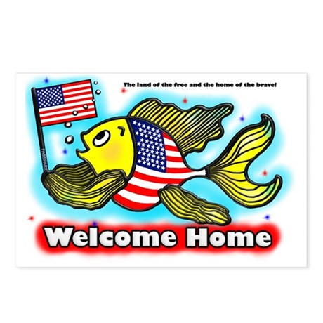American flag fish us wf postcards package of 8 by for American flag fish