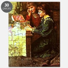 The Sewing Box - Mary Louisa Gow painting Puzzle