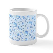 Clear Water Drops Pattern Mugs