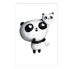 Cute Panda with Balloon Postcards (Package of 8)