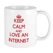 Keep Calm and Love an Internist Mugs