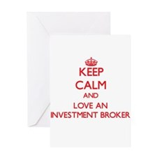 Keep Calm and Love an Investment Broker Greeting C