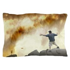 Volcano Disc Golf Pillow Case