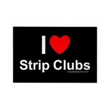 Strip Clubs Rectangle Magnet
