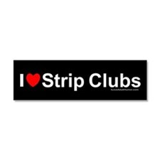 Strip Clubs Car Magnet 10 x 3