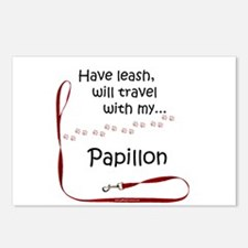 Papillon Travel Leash Postcards (Package of 8)