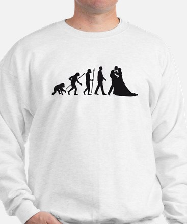 evolution of man wedding Sweatshirt