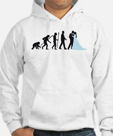evolution of man wedding Hoodie