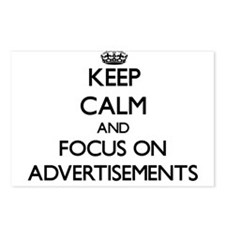 Keep Calm And Focus On Advertisements Postcards (P