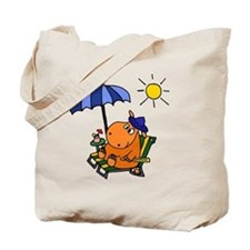 Hippo at the Beach Tote Bag