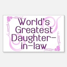 World's Greatest Daughter-in-Law Decal