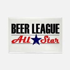 Beer League All Star Rectangle Magnet
