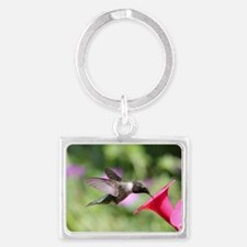 Pretty Hummingbird Landscape Keychain