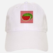 Watermelon on Red and White Baseball Baseball Baseball Cap