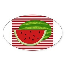 Watermelon on Red and White Decal