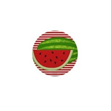Watermelon on Red and White Mini Button (10 pack)