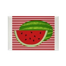 Watermelon on Red and White Magnets