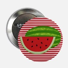 """Watermelon on Red and White 2.25"""" Button (10 pack)"""