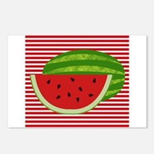 Watermelon on Red and White Postcards (Package of