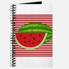 Watermelon on Red and White Journal