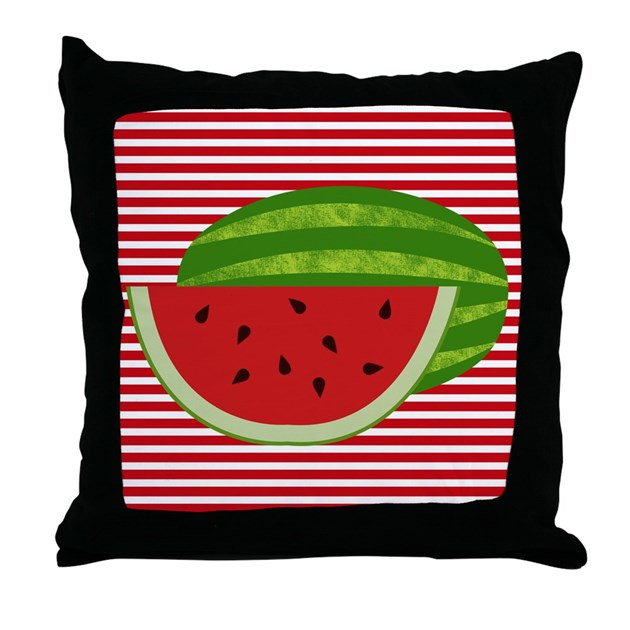 Red And White Decorative Pillows : Watermelon on Red and White Throw Pillow by BeachBumFamilyShop