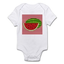 Watermelon on Red and White Body Suit