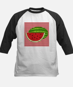 Watermelon on Red and White Baseball Jersey