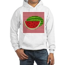 Watermelon on Red and White Hoodie