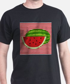 Watermelon on Red and White T-Shirt