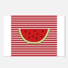 Watermelon Slice on Red and White Postcards (Packa