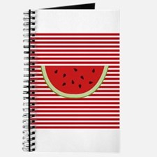 Watermelon Slice on Red and White Journal