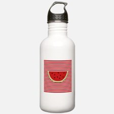 Watermelon Slice on Red and White Water Bottle